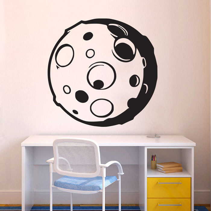 Removable Space Planet Moon Wall Decal Art Home Decoratioin Vinyl Sticker Living Room Window Mural YO-7