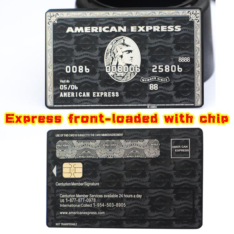 The chip card, American express express the centurion black card metal chip card custom gift free shipping