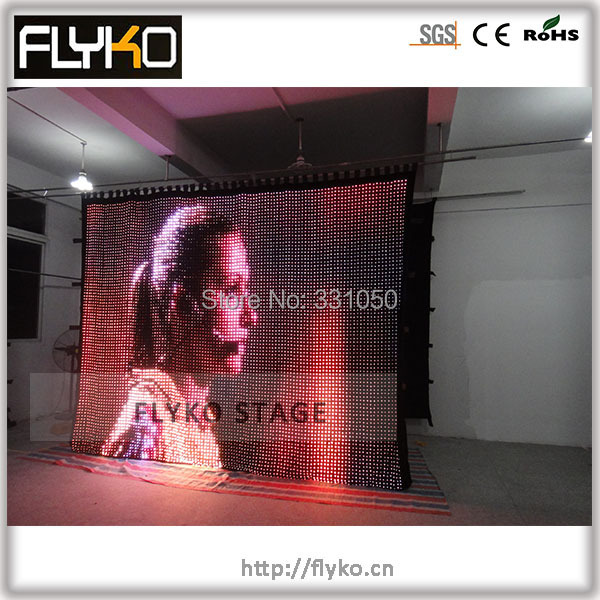 Free shipping software control PC high definition soft flexiable LED video screen