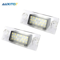 2X AUXITO Error Free White 18 LED Number License Plate Light Lamp SMD 3528 6000K For