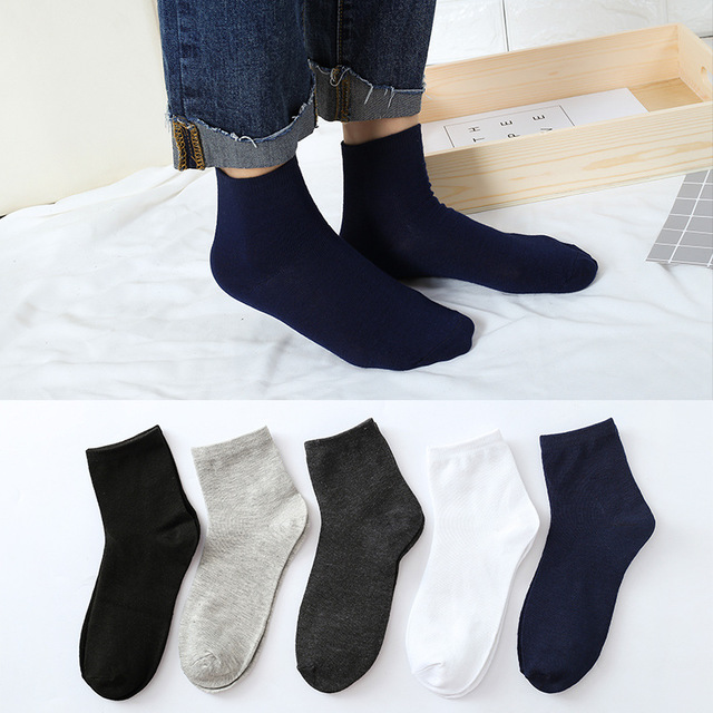 10 Pieces= 5 Pairs 2019 New Arrived Winter Cotton Men Socks, Nice Quality Business Socks And Low Price, Single Colors  Socks Men