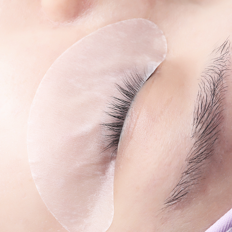 100 Pairs/lot Thin Big Size Gel Eyelash Patch Silver Pack Lint Gel Collagen Eye Pads Paper Patches