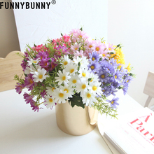 FUNNYBUNNY Artificial Flowers, Silk Daisy, Gerber Daisy for Home Decoration, Wedding Decoration