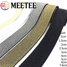 Meetee Nylon Elastic Bands 1-7.6cm Sewing Elastic Rubber Band Webbing Ribbon for Garment Trousers Bags Sewing Accessories