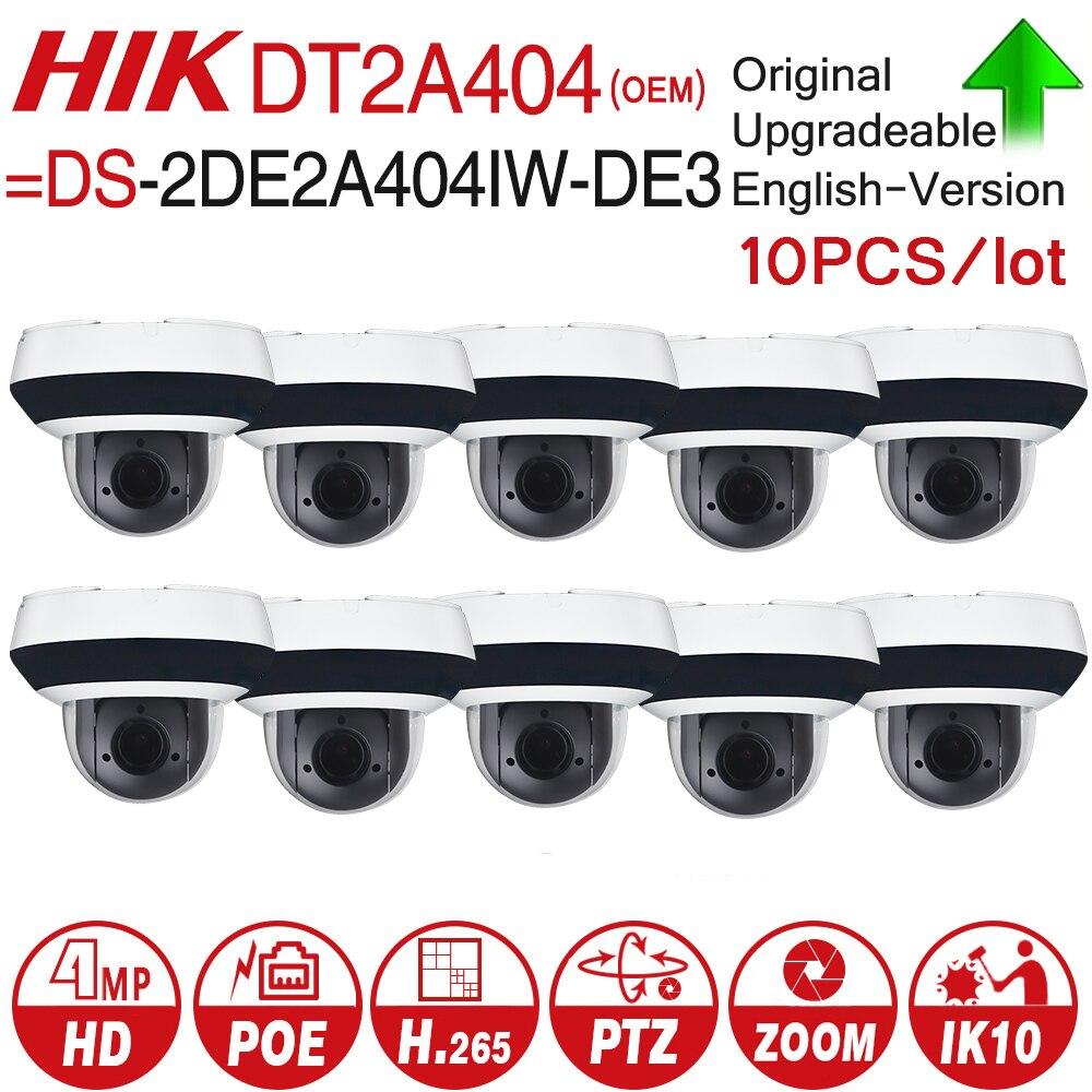 Hikvision ds OEM PTZ Macchina Fotografica del IP di DT2A404 = DS-2DE2A404IW-DE3 4MP 4X Zoom Rete POE H.265 IK10 ROI WDR DNR CCTV Della Cupola macchina fotografica 10 pz/lotto