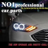 Автомобиль лампа для Ford Mondeo 2017 фары Mondeo светодиодный фар DRL H7 D2H Hid би ксенон луч Mustang flash поворота