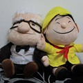 25 CM HASTA el Cine y TV de Peluche Juguetes Abuelo Carl y Niños Russell de Dibujos Animados de Peluche Suave Juguete de Peluche