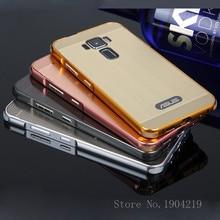 Moldura de alumínio luxo metal caso para asus zenfone 3 ze520kl 5.2 polegadas acrílico sacos de telefone tampa traseira para asus zenfone 3 ze520kl