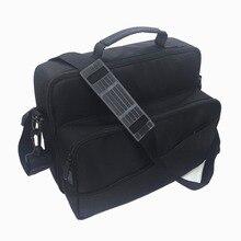 Çok fonksiyonlu seyahat için taşıma çantası kılıf Xbox One X/S çanta omuzdan askili çanta kayış ile oyun disk tutucu