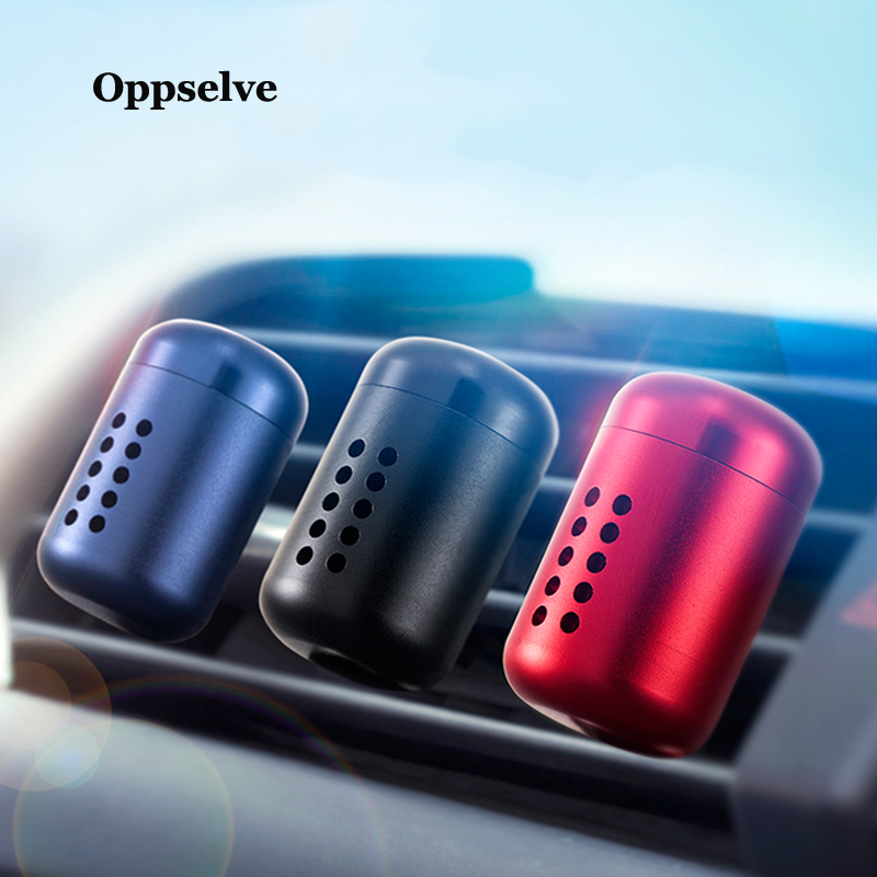 Oppselve Mini Metal Aromatherapy Car Phone Holder Air Freshener For Car Air Vent Freshener Air Condition Diffuser Solid Perfume