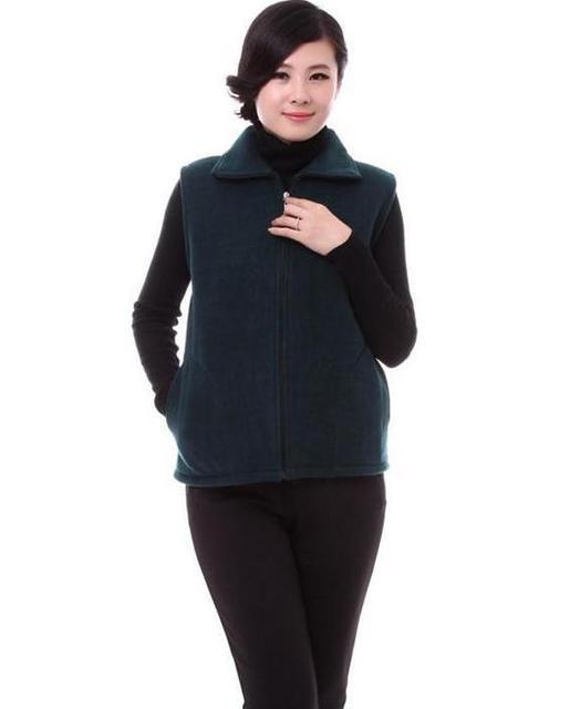 Hot Large size L-4XL Spring autumn brand zipper vest jacket older women Factory sales Low Price