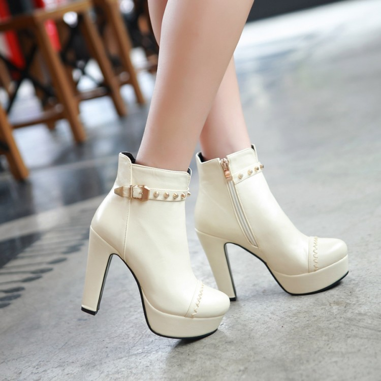 Image 3 - Winter  style thigh high women woman femininas ankle boots botas masculina zapatos botines mujer chaussure femme shoes 603 2style bootsankle bootszapatos botines -