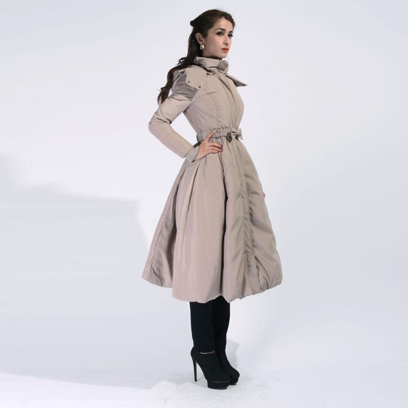 [ LYNETTE'S CHINOISERIE - Chocolatone ] Winter New Original Design Women Elegant Fashion Slim Waist 90% White Duck Down Jacket