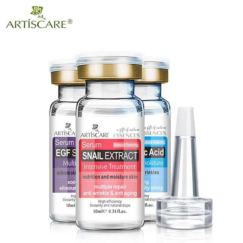 ARTISCARE Hyaluronic Acid + EGF + Snail Serum 3PCS Anti Wrinkle Aging Acne Treatment Scar Removal Essence Whitening Skin Care
