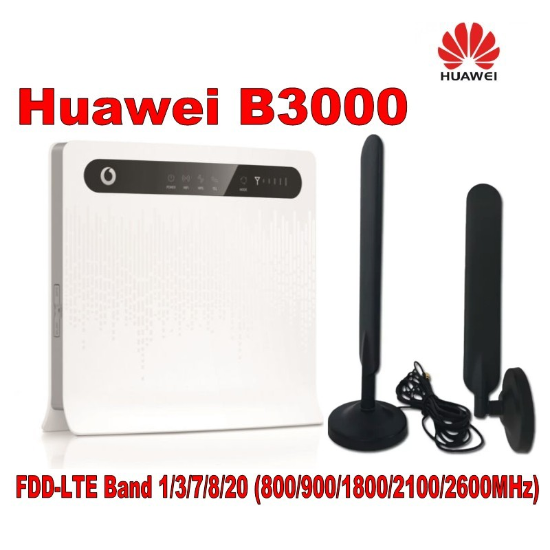 unlocked huawei B3000 4G LTE Router pk huawei E5186 plus 2pcs 4g antenna with base magnet