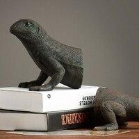 Американский исследование ретро украшения дома Интимные аксессуары Творческий животных Подставки для книг ящерица Подставки для книг дом