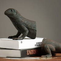 American Study Retro Home Decoration Accessories Creative Animal Bookends Lizard Bookends Home Furnishing Jewelry Ornaments
