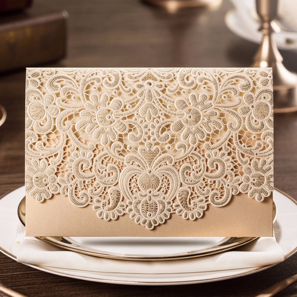 Aliexpresscom Buy 100PCS Horizontal Laser Cut Wedding