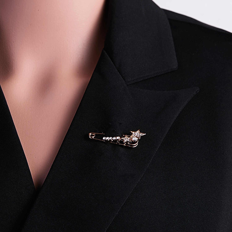 Grande Spilla Spilla Vintage di Moda Femminile Broche Perni Hijab E Spille per Le Donne Animale Pin Spilla Gioielli di Moda