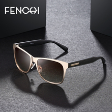 FENCHI Mens Polarized Sunglasses designer brand square Eyewear Men Women Driving lunettes de soleil homme