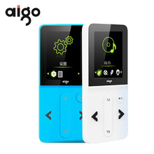 Aigo MP3-207 Portable Fashion Music Player 1.8″ TFT Screen Display Rechargeable MP3 Player Support Audio Video