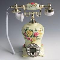 European antique painted crafts jewelry Home Furnishing resin telephone landline retro pastoral caller ID