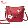 TULADUO 2017 Spring Fashion Leather Women Handbags Fresh Ladies Bucket Women Crossbody Bags Luxury Messenger Bags Women Bags