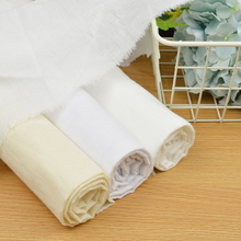Primaries Thin Muslin Fabric Cotton Newborn Gauze Voile for newbaby Diapers Swaddle 80cm width  10 meter Free shipping