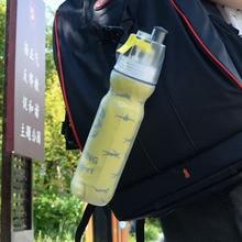 700 ml Deportes de La Moda Botella de Spray de Agua de Doble Uso Portátil Aislamiento De Plástico Botellas de Agua de La Bicicleta Hervidor de Agua Al Aire Libre