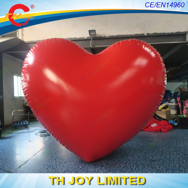 Free Shipping!2m/3m/4m Large Inflatable Heart, Custom Made Wedding Valentine