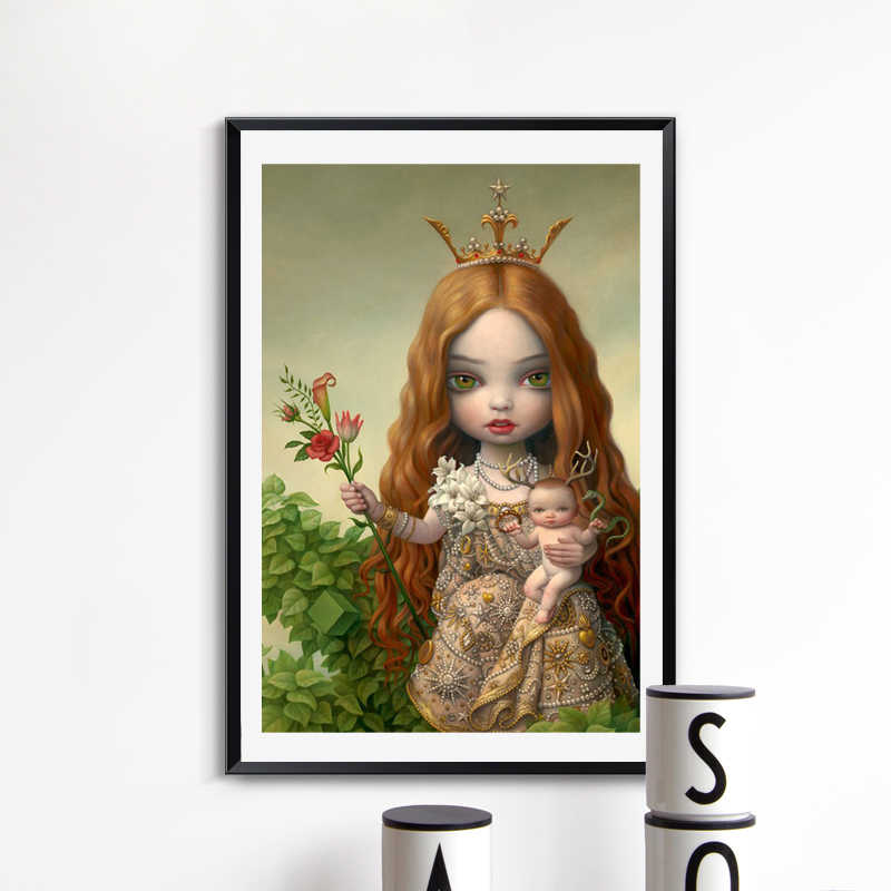 Pohon Acara Oleh Mark Ryden Kanvas Lukisan Cetak Ruang Tamu Dekorasi Rumah Modern Dinding Seni Lukisan Cat Minyak Poster Salon gambar