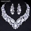 Mecresh Luxuoso Cristal Conjuntos De Jóias de Noiva Colar Brincos Colar de Casamento de Prata Banhado A Declaração Acessórios Jóias TL005
