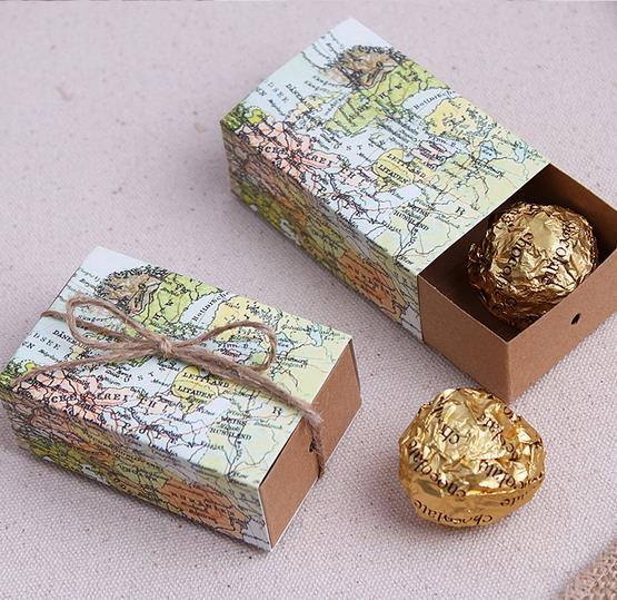 100pcslot around the world map favor candy box wedding decoration 100pcslot around the world map favor candy box wedding decoration gift box gumiabroncs Choice Image