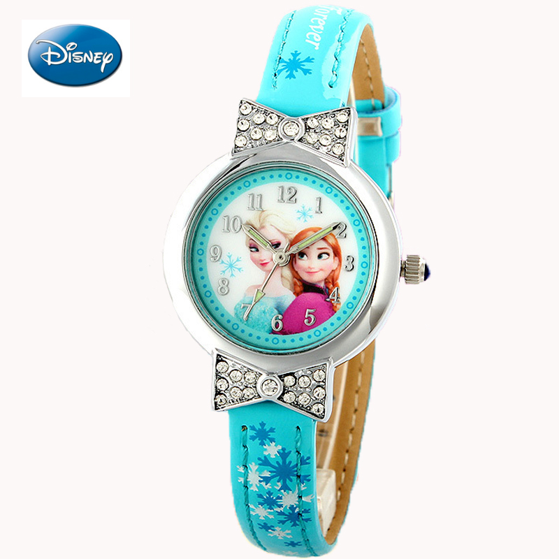 Disney Cartoon Children Watches Girls Quartz Watch Top Brand Frozen Pu Leather Watchband Fashion Girls Frozen Watch Dropshipping In Short Supply Children's Watches