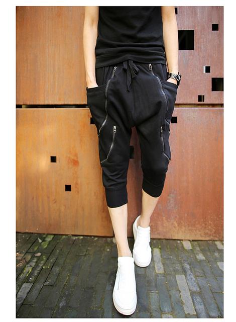 2017 Novo Verão Baggy Harem Hip Hop Dance Calças Metrosexual Mens Moda Leggings Calças Sexy Dos Homens dos homens Calças Skinny calças