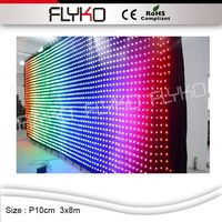 Flyko fase di alta qualità ha condotto video parete panno china sexy video tenda led wall display vendite calde