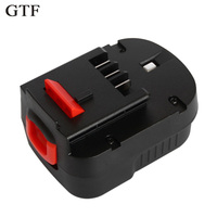 GTF 12V 3.0Ah Rechargeable Battery for Black Decker Drill A12 A12EX FSB12 FS120B A1712 HP12K HP12 Ni MH Replacement Tool Battery