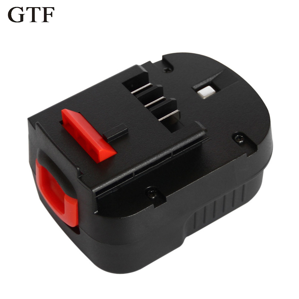 GTF 12V 3.0Ah Rechargeable Battery for Black Decker Drill A12 A12EX FSB12 FS120B A1712 HP12K HP12 Ni-MH Replacement Tool Battery
