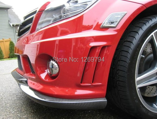 2009 2010 W204 C63 AMG style carbon fiber car front lip for benz auto front bumper