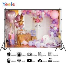 Yeele Unicorn Balloons 2 Year Birthday Party Scene Photography Backdrops Customized Photographic Backgrounds For Photos Studio
