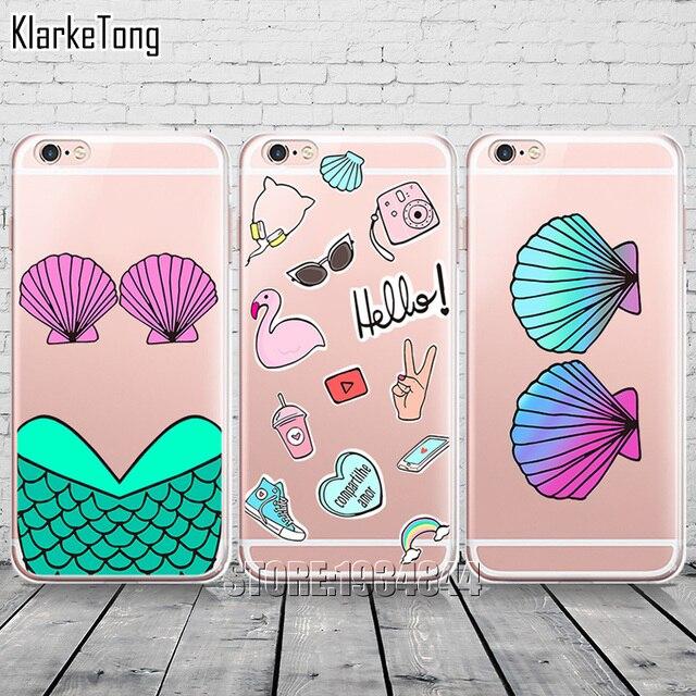 Case Iphone transparentny różne wzory muszelki 5/5S/SE/6/6S/6Plus/6sPlus/7/7Plus