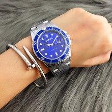 Unisex de Moda de Lujo de Negocios Contena Nueva Durable Deporte de Moda Reloj de Pulsera de Cuarzo Vestido Reloj Saat Relogio masculino