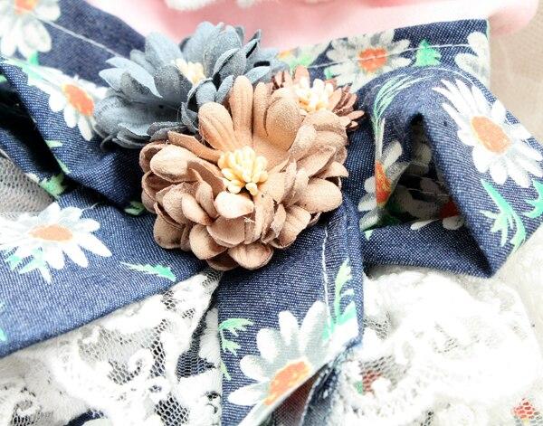 Transporti falas Daisy pak lule 3D lule dantella pantallona të gjera - Produkte për kafshet shtëpiake - Foto 6