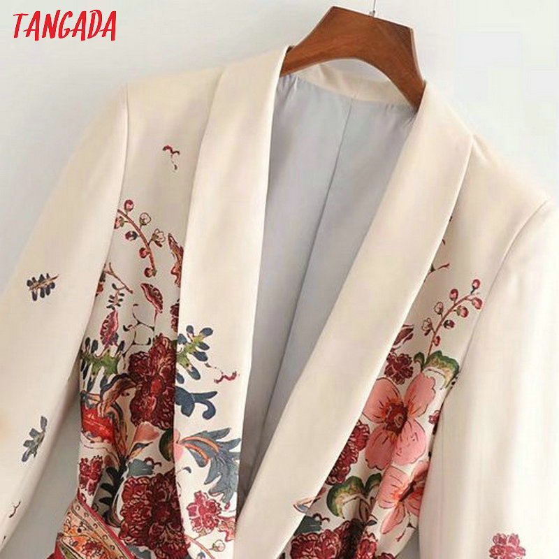 Tangada Women Suit Blazer Floral Designer Jacket Korea Fashion Long Sleeve Ladies Blazer Female Office Coat Blaser 3h48 #4