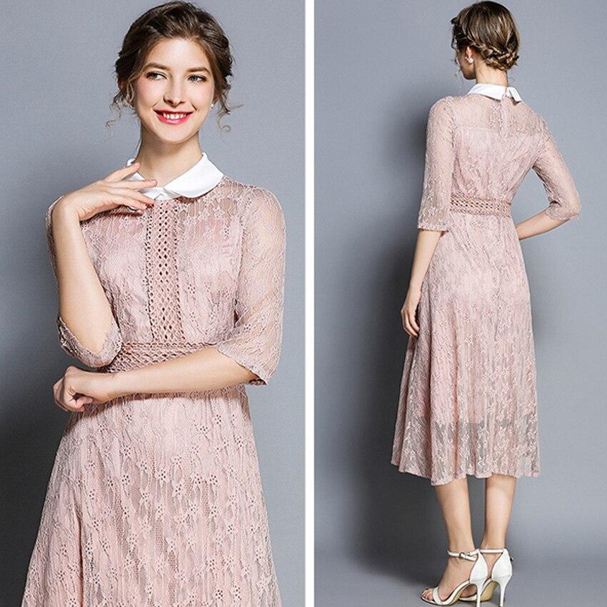 Women Dress bodycon Autumn Pretty Famale elegant Lace Hollow Out Party sexy Dresses fashion office Business vestidos verano 2018