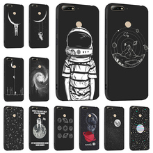 Ojeleye Fashion Black Silicon Case For Huawei Y6 Prime 2018 Cases Anti-knock Phone Cover Honor 7A Pro Enjoy 8E Covers