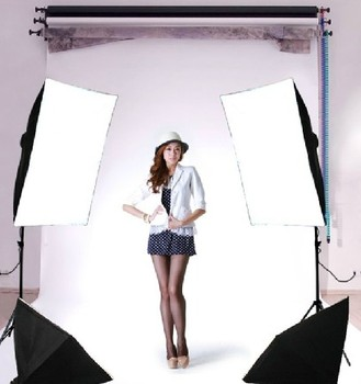 continuous lighting photography Photographic equipment tetralogy 4 lamp combination softbox photography light set clothes Cd50