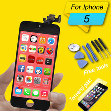 цена на high quality lcd display for iphone 5 lcd digitizer screen assembly for iphone 5c 5s display touch screen replacement