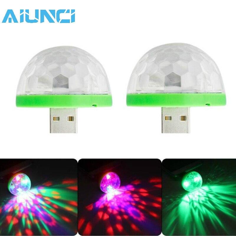 3W Led Holiday Lights DJ Light RGB Color Changing Sound Actived Crystal Magic Mini Disco Ball KTV Xmas Wedding Party NightLights