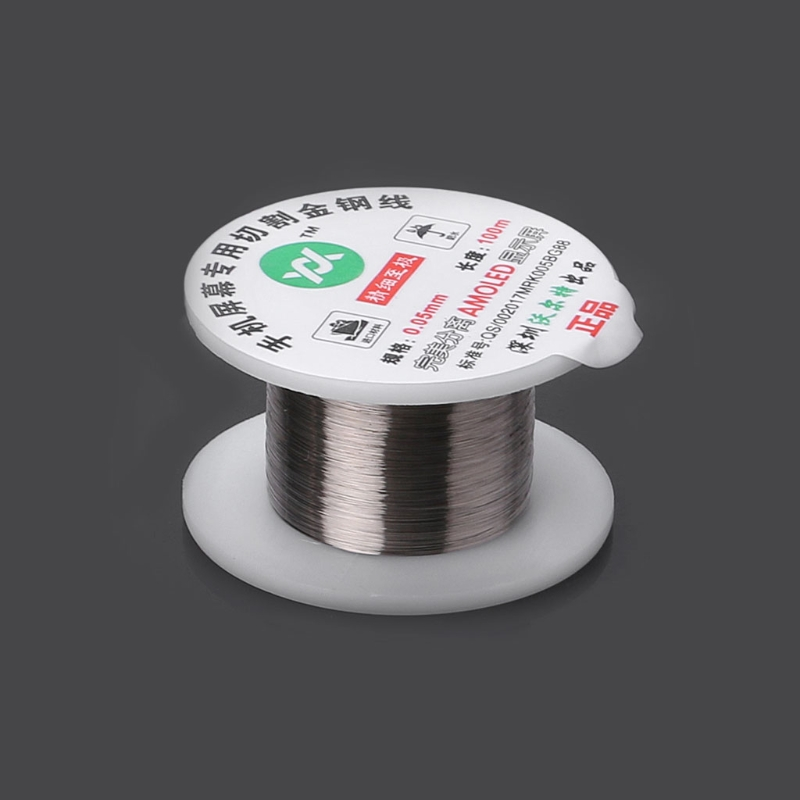 100m Alloy Gold Molybdenum Wire Cutting Line LCD Display Screen Separator Repair Damom